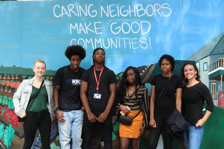 In the Media: 18th Annual Harvest Day and Caring Neighbors Mural Restoration